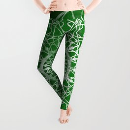 Fire Blossom - Emerald Leggings