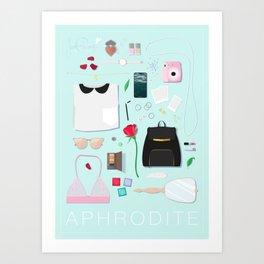Modern Aphrodite Flat Lay Art Print