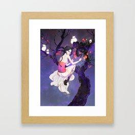 A Flight in the Night Framed Art Print