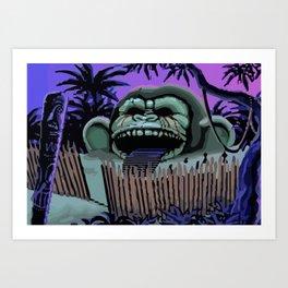 Three headed monkey Art Print