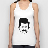 ron swanson Tank Tops featuring Ron Swanson by bookotter