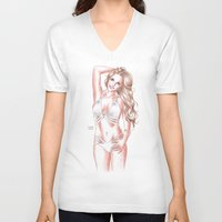britney spears V-neck T-shirts featuring Britney Spears Shape Magazine by Eduardo Sanches Morelli