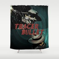 calvin Shower Curtains featuring Calvin & Hobbes: Tracer Bullet Alternate by Gallery 94