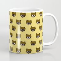 racoon Mugs featuring Wes Racoon by mleko