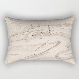 Vintage Map of St Augustine FL (1819) Rectangular Pillow