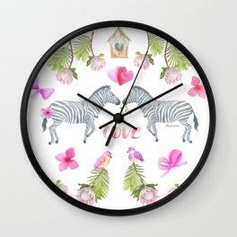 Groovy Kind Of Zebra Love - Bagaceous Wall Clock