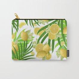 Summer Lemon Twist Jungle #2 #tropical #decor #art #society6 Carry-All Pouch