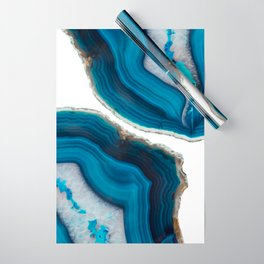 Blue Agate Wrapping Paper