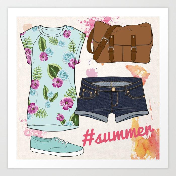 #summer Art Print