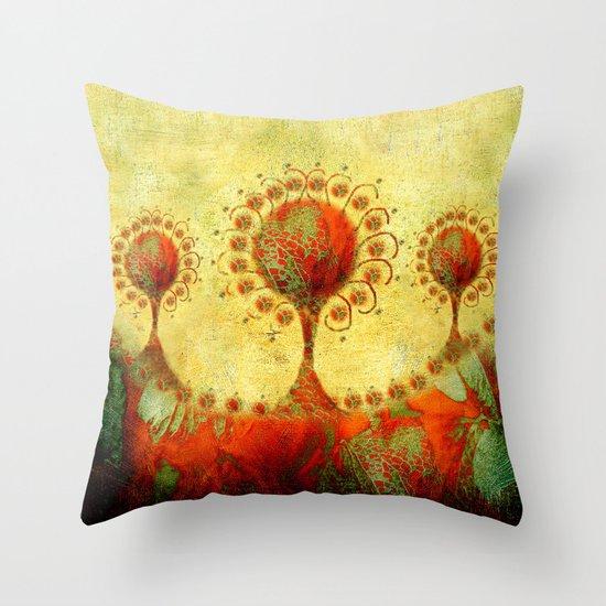 Innocent Brocade... Throw Pillow