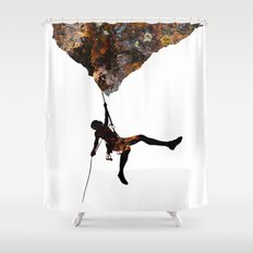 Rock Climbing  Shower Curtain