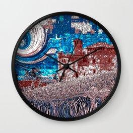 Castello Langhe -Art Digital Original- Wall Clock