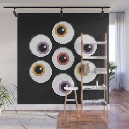 Pixel Eyeballs Wall Mural