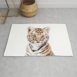 Baby Tiger Cub Portrait Rug