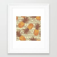 pineapples Framed Art Prints featuring pineapples by Julia