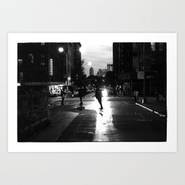 Pushing Downtown Art Print