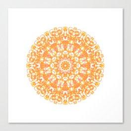 Mandala 12 / 1 eden spirit orange yellow pink Carnelian Canvas Print