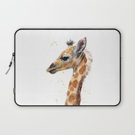 Giraffe Watercolor Cute Baby Animals Laptop Sleeve
