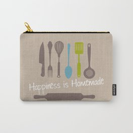 Happiness is Homemade Art Print Kitchen Decor Interior Design Wall Printing Home Decor Beige Lime El Carry-All Pouch