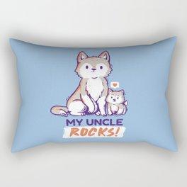 My Uncke Rocks Rectangular Pillow
