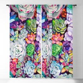 Succulent Garden Blackout Curtain