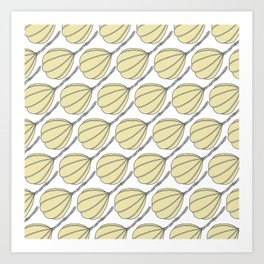 Provolone (cheese pattern) Art Print