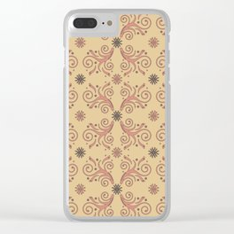 Flowers & Flourishes, cream & pink Clear iPhone Case