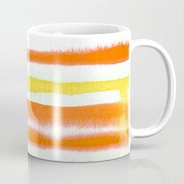 Orange & Yellow Watercolor Stripes Coffee Mug