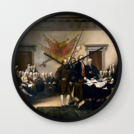Signing The Declaration Of Independence Wall Clock