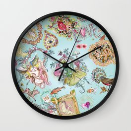Stephanie's garden Wall Clock
