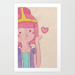blow kiss Art Print