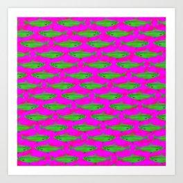 Bright Fish Pattern Art Print