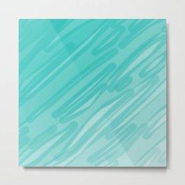 Bahama Blue Line Art, Variable Opacity Color Study – 5  Metal Print