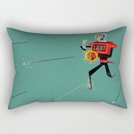 The Time Travelling Pirate Rectangular Pillow