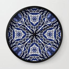 abstract jewel indigo Wall Clock