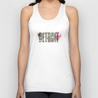 detroit Tank Tops featuring Detroit by Tonya Doughty