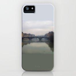 Bridge Gap Over Arno iPhone Case