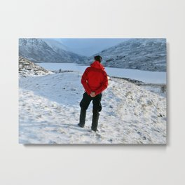 Snow and a Loch Metal Print