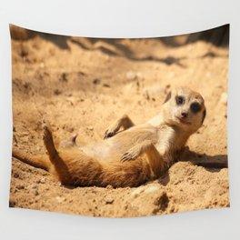 Meerkat Suricat suricatta Sunbathing #decor #society6 Wall Tapestry