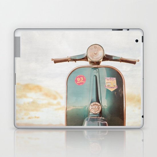The Blue Vespa Laptop & iPad Skin