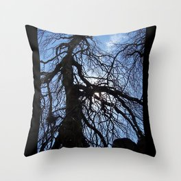 Nearly Abstract Tree on clear blue sky Throw Pillow