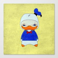 donald duck Canvas Prints featuring A Boy - Donald Duck by Christophe Chiozzi