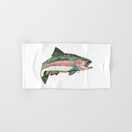 Rainbow Trout Collage Hand & Bath Towel