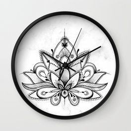 Boho Lotus Wall Clock