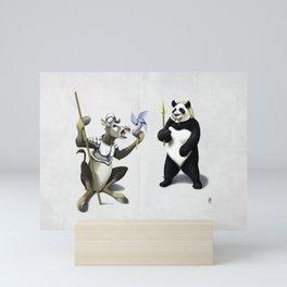 Donkey Xote and Sancho Panda (Wordless) Mini Art Print