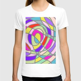 Stain Glass Abstract Meditation Tango T-shirt