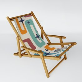 Retro Mid Century Modern Abstract Pattern 224 Sling Chair