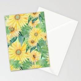 Sunflowers Pattern Stationery Cards