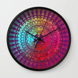 Mandala Flower Wheel Wall Clock