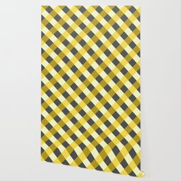 MUSTARD & CHARCOAL CHECK Wallpaper